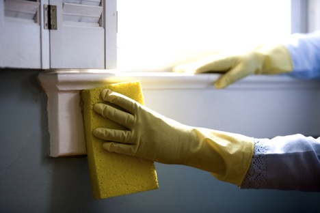 glove hand cleaning